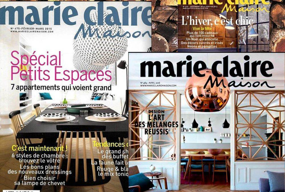 Nos réalisations sont parues dans Marie Claire Maison