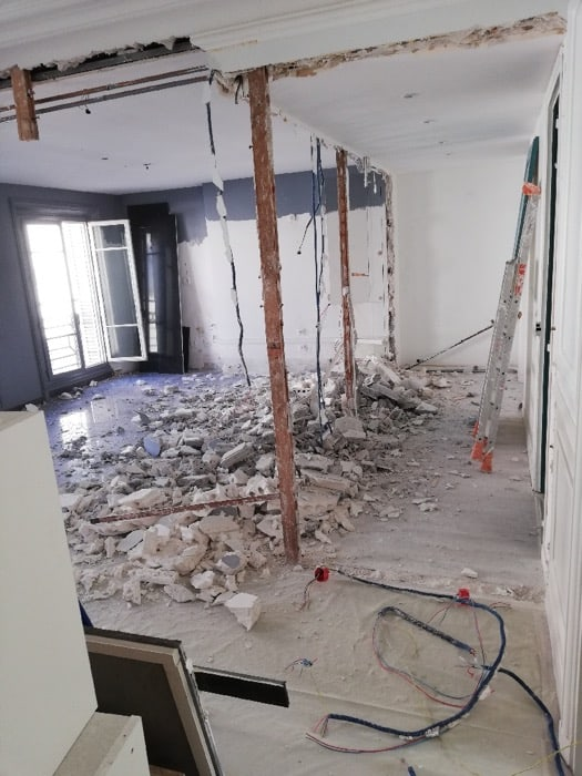 Démolition d'un appartement