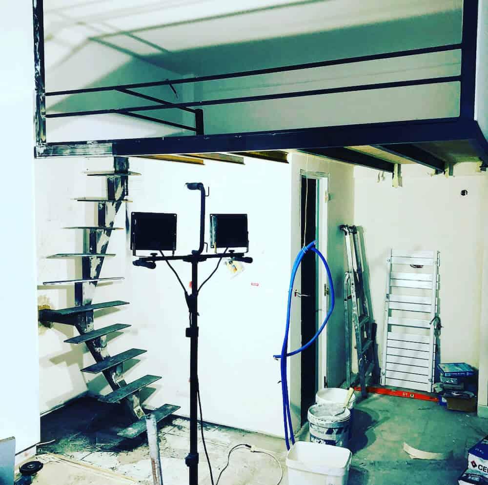 mezzanine pendant travaux