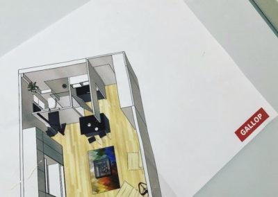 Création d'une mezzanine en acier de 9 m²