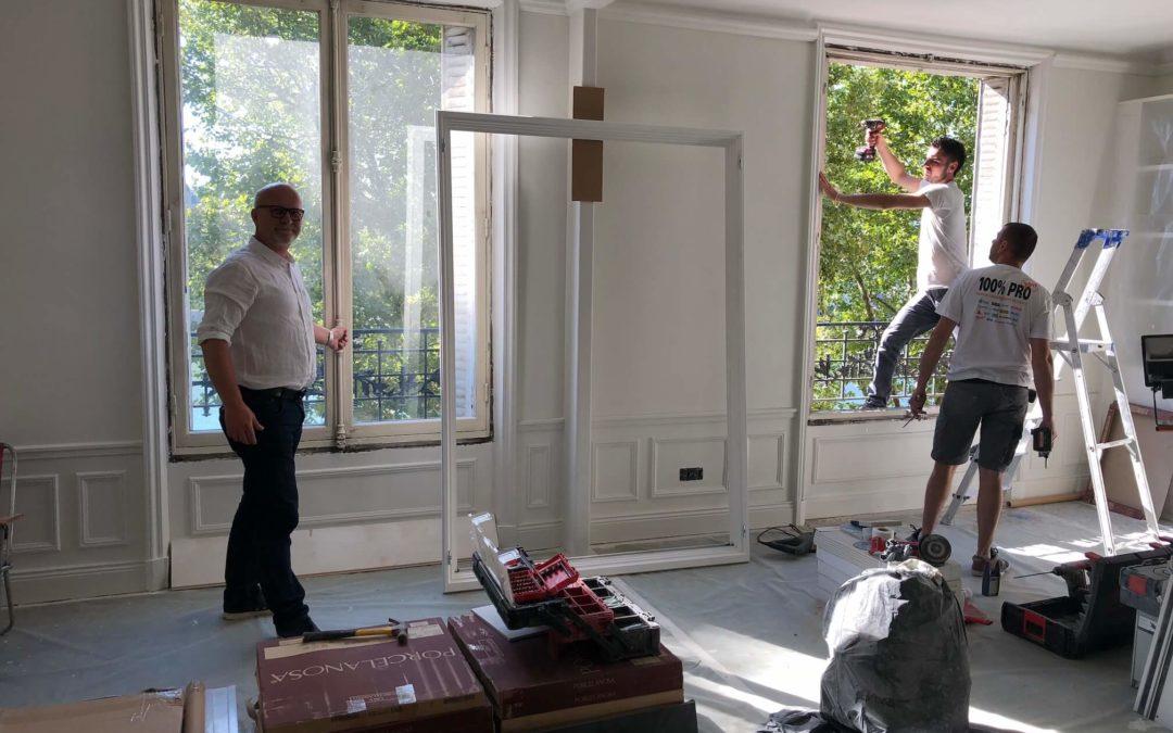 Fournitures et poses de fenêtres – Paris XVIe