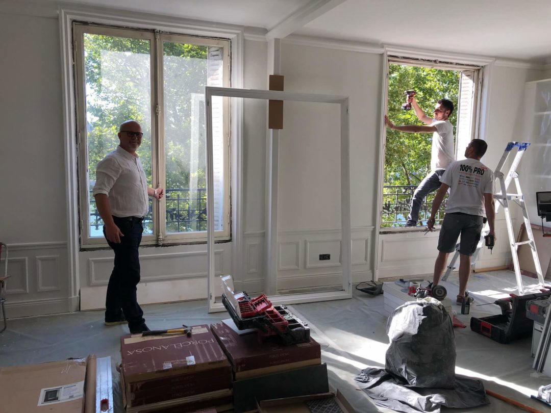 Pose de fenêtres à Paris XVI